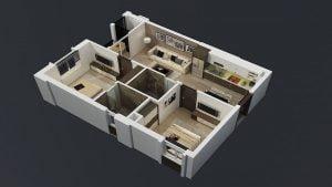 Thiết kế căn hộ điển hình tại dự án