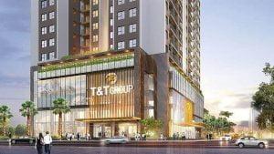 Dự án gồm 5 tầng đế làm trung tâm mua sắm, dịch vụ thương mại