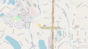Vị trí dự án chụp từ vệ tinh wikimap