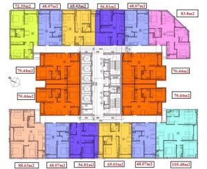 Mặt bằng thiết kế căn hộ chi tiết